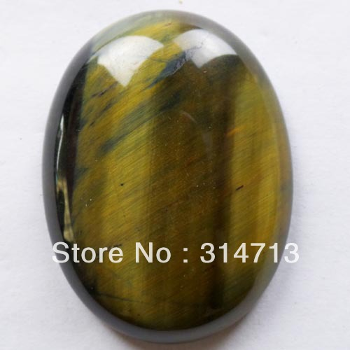 (Min.order 10$ mix) Free shipping 30x40mm Tiger Eye Gem CAB CABOCHON