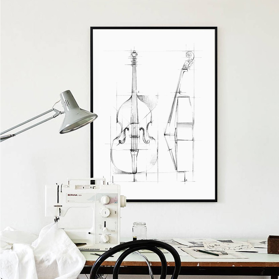 Nordic Home Decor Simple Abstract Hand Painted Cello ...