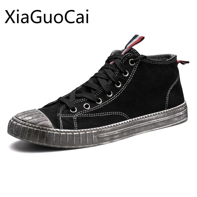 Retro Fashion Low Top Men Boots Mixed Colors Winter Warm Male Ankle Boots Lace-up Vintage Canvas Shoes X8 35