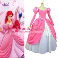 Beautiful Pink Princess Ariel Dress Cosplay Costume Custom made
