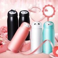 Cartoon Hello Kitty Faceless Men Stainless Steel Insulated Water Bottle Cute Ninja Cat Bear Thermos Travel