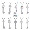 MS JEWELS Game Kingdom Hearts Metal Keyblade Pendant Necklace Cosplay Jewelry Gift Accessories