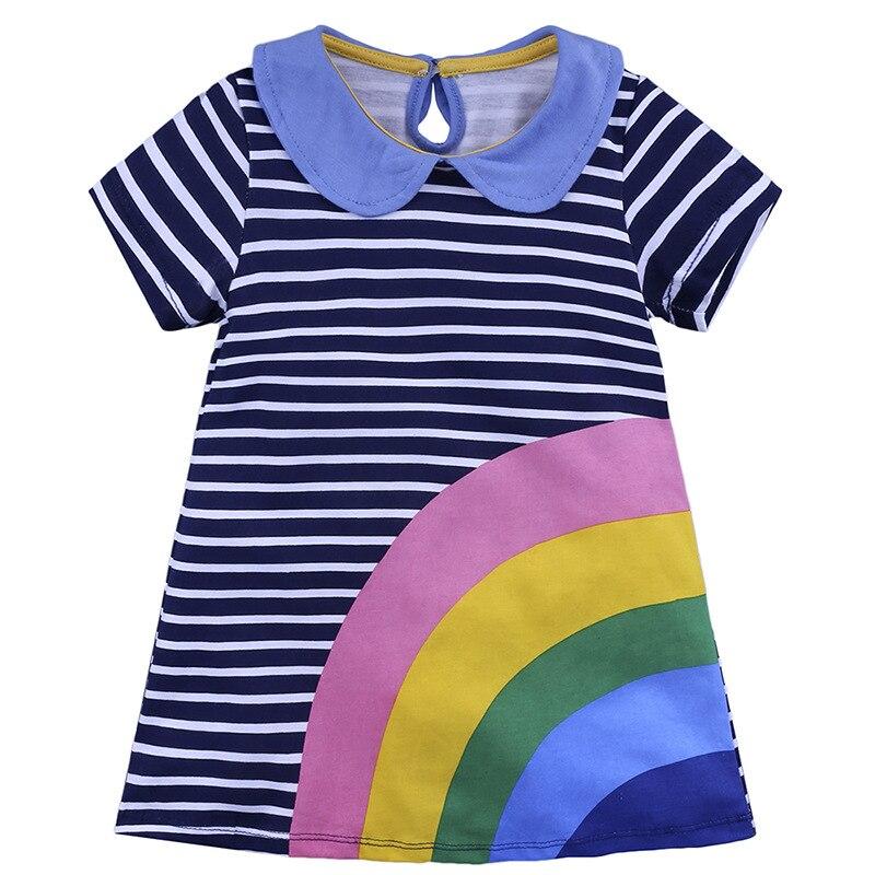 $8.5 Платья для маленьких девочек 2018 новый летний детский короткий рукав детская одежда платье с цветочным рисунком vl-553
