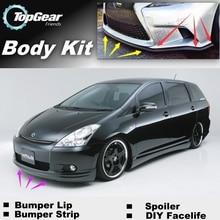 Для TOYOTA Wish бампер губы/передний спойлер дефлектор для TOPGEAR вентиляторы для автомобиля Тюнинг/обвес/полоса юбка
