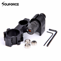 Tactical Hunting Rifle Red Dot Laser Sight Mini Laser with 2 Scope Ring and Wrench Fit 20mm Rail for Gun Rifle Pistol