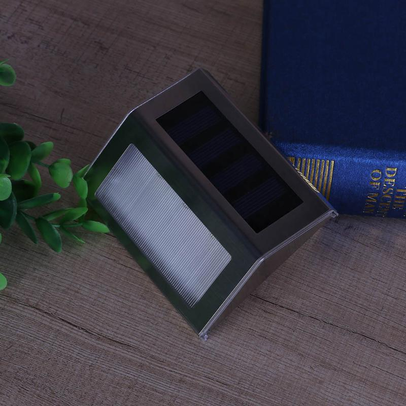 High Brightness Mini 3 LED Solar Power Outdoor Garden Light Wall Corner Light Stainless Steel LED Solar Power Street Light