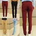 Nueva Moda de ropa Masculina pantalones casuales hombres pantalones rectos delgados de los hombres pantalones casuales