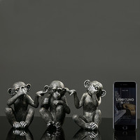 Animal sculpture monkey figurine creative home decorations wedding gift modern small ornaments crafts decorative home decors