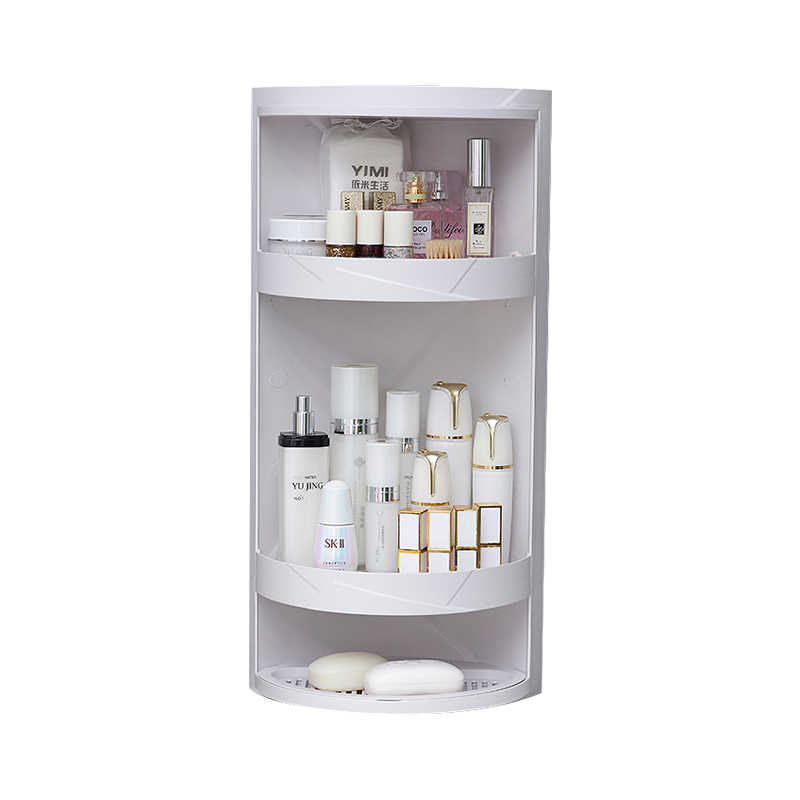 Bathroom corner rack bath toiletries finishing rack bathroom wash stand  corner cosmetic storage cabinet shelf XI3091146