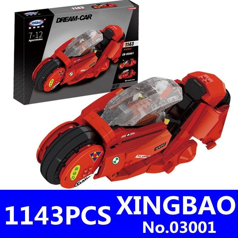 XingBao 03001 1143 Pcs Creative MOC Ville Série Le Citoyen Akira Moto Set Enfants Blocs de Construction Briques Garçon Jouets Modèle cadeaux