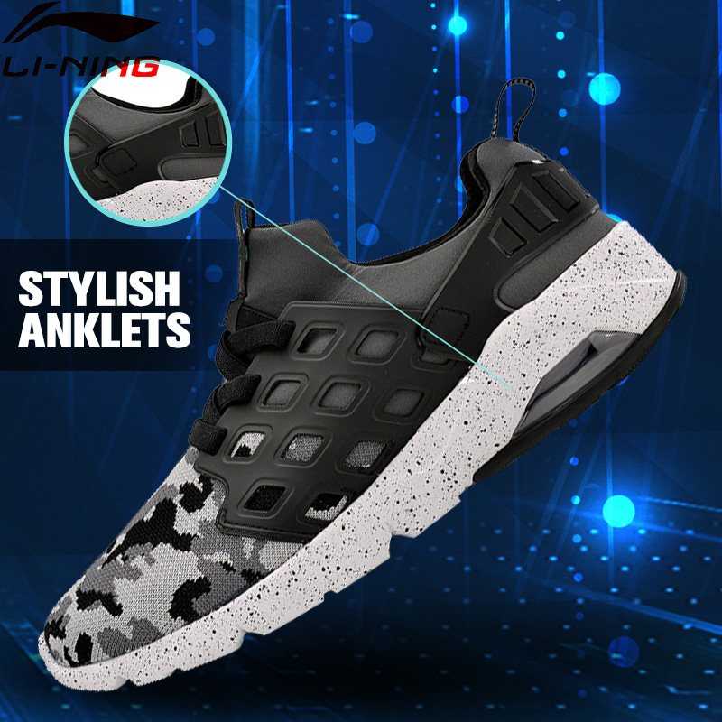 Li-Ning Men's Bubble Ace Walking Shoes Breathable Air Cushion MONO YARN LiNing Sneakers Sports Shoes AGLM019 YXB077 original li ning men professional basketball shoes