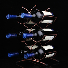 Metal wine rack Wine European wine shelf  creative iron frame 6 bottle wine holder