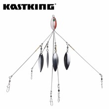 KastKing 4pc/lot 23g 21cm Spinner Spoon Fishing Lures 4 Colors Artifical Baits Seafishing Sealurer Spinning Bait