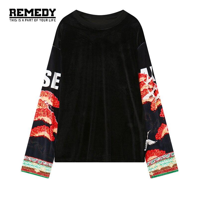 Streetwear font b Women b font hoodies sweatshirts Animal Floral Print super long sleeves pullovers 2017