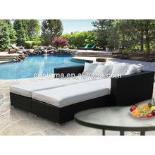 Moderne Terrasse Rattan Pool Bett