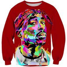 2019 Nueva Jersey Hip Hop cantante de Rock hombres mujeres Sudadera con  capucha 3D imprimir 2pac Tupac Shakur ropa de manga larg. 55868121448