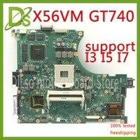 KEFU N56VM For ASUS N56VM N56V N56VV N56VZ N56VB mainboard GT740 4GB video memory support I7 original Test 100% work motherboard