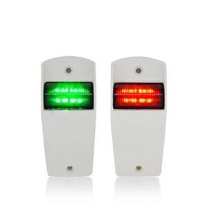 Image 2 - 12 فولت مركبة بحرية يخت أضواء الملاحة LED الأحمر الأخضر الإبحار مصباح إشارة اكسسوارات للقوارب