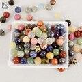 100 г Хрустальные шарики с натуральным камнем, s и минералами, сферический фэн-шуй, натуральный камень, лечебные чакры, массажные шарики для ру...