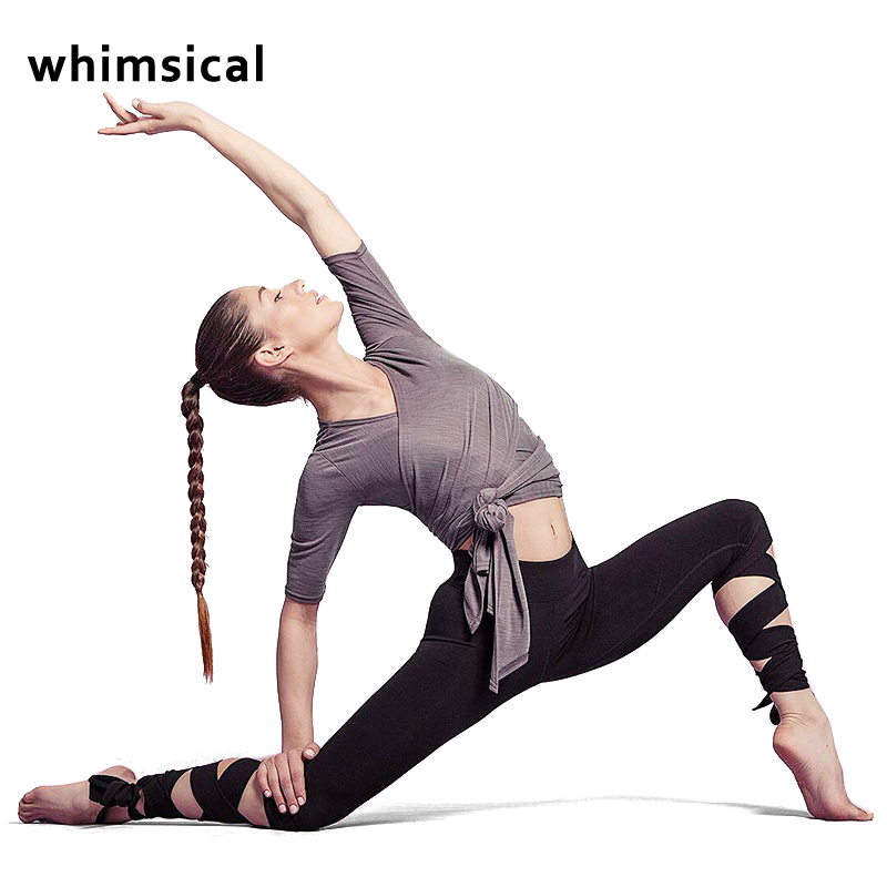 Whimsical Women Ballerina Yoga Pants Sport Leggings High Waist Fitness Cross Yoga Ballet Dance Tight Bandage Cropped Pants