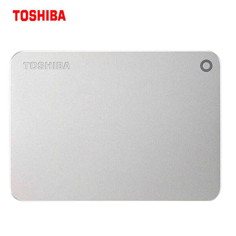 TOSHIBA 1 to 2 to disque dur externe ultra mince métal crypter CANVIO PREMIUM HDD 1000G HD USB 3.0 Original compatible mac