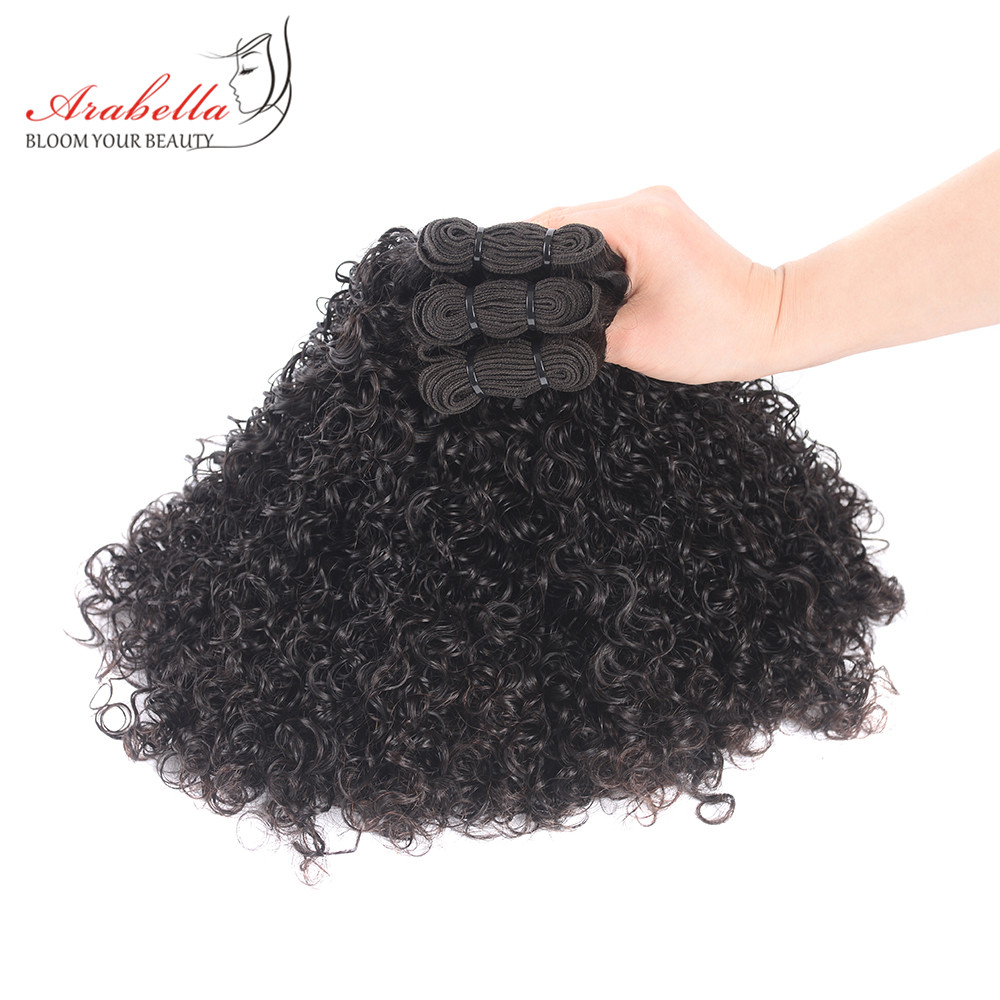 Image 2 - Curly Hair Weave Bundles 3 Pieces 100% Human Hair Extension Natural Color Arabella Remy Hair Bundles-in 3/4 Bundles from Hair Extensions & Wigs