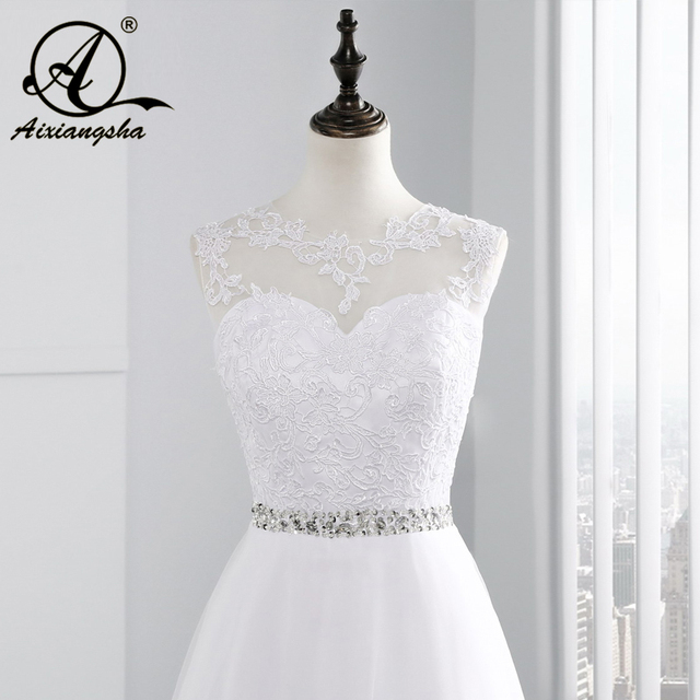 vintage Beach A Line Appliques Beading Lace Wedding Dress See Though Back Tulle Bridal Dresses Cap Sleeve vestido de noiva