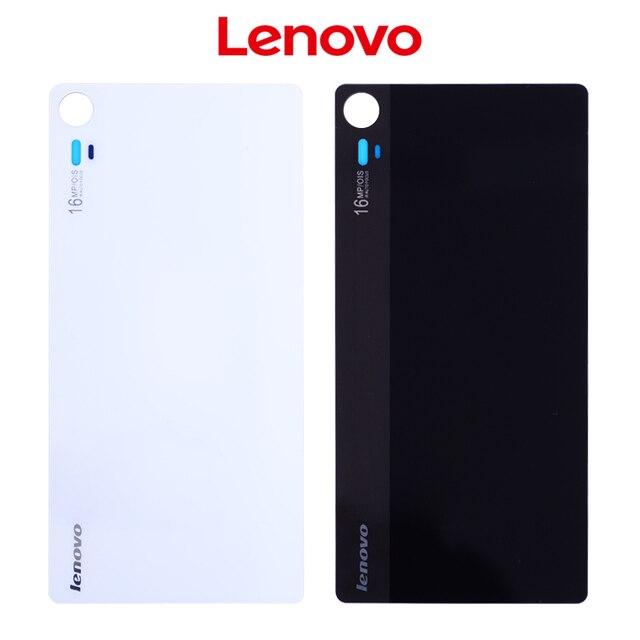 New Glass Rear Glass Housing For Lenovo Vibe Shot Max Z90 Back Cover Battery Door z90-7 z90-3 Replacement Black White