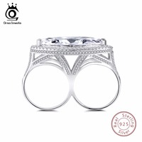 ORSA JEWELS S925 Sterling Silver Rings With AAA Big CZ Special Design Silver Ring For Women
