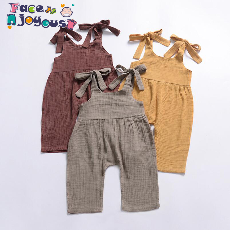 2019 Summer Infant Cartoon Baby Clothes Girl&boys Sleeveless Daddy Mummy Baby   Rompers   Babygrow Sleepsuits Baby   Romper   0-3 Years