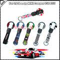 (1) Union Jack Style Key Case Cover Shell w/ Lanyard For 3rd Gen MINI Cooper F55 F56 Smart Key