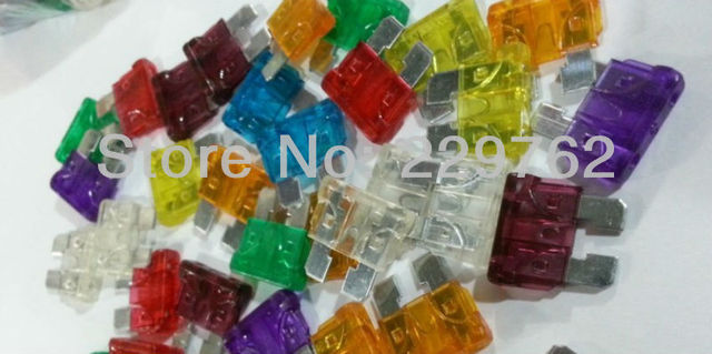 aliexpress com buy 180pcs lot medium size zinc pc car fuse 180pcs lot medium size zinc pc car fuse plug in car blade fuse box