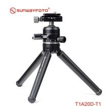 SUNWAYFOTO T1A20D-T Профессиональный мини штатив для камеры стенд Para Movil Tripodes Dslr& Phone аксессуары с шаровой головкой