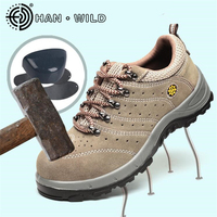 Safetoe Safety Shoes Men Genuine Leather Work Boots Steel Toe Cap Men Safety Boots Working Shoes Puncture Proof Boots