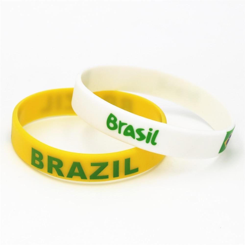America rubber bracelet FIFA world cup Brasil official Soccer Brazil wristband