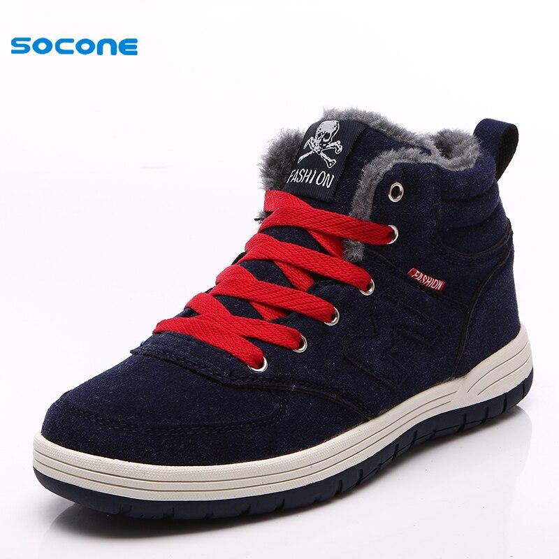 ФОТО New Arrival Keep Warm Men Skateboarding Shoes Winter Comfortable Walking Sneakers Rubber Sole Joker High Top Shoes FB9988