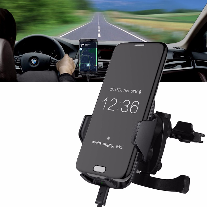 Car Styling Qi Fast Wireless Car Charger Charging Holder Air Vent Mount For Smart Phone mobile phone car vent holder