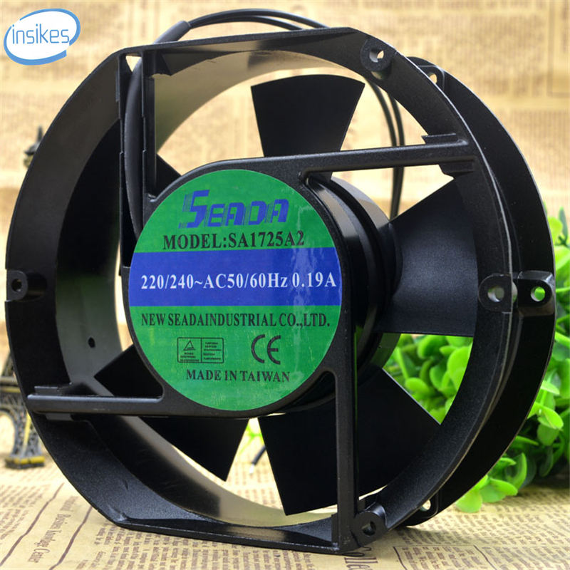SA1725A2 Cooling Fan AC 220V 0.19A 17251 17CM 172*150*51mm 50/60HZ 2 Wires delta new efb1548vhg 17251 17cm 48v 0 83a circular drive cooling fan for 172 172 51mm