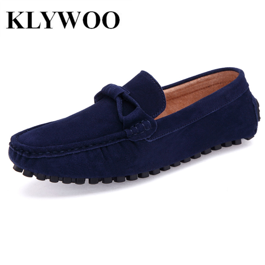KLYWOO Plus Size 38-46 Men Loafers Leather Shoes Fashion Mens Casual Driving Boat Shoes Slip On Handmade New Shoes Men Moccasins pl us size 38 47 handmade genuine leather mens shoes casual men loafers fashion breathable driving shoes slip on moccasins