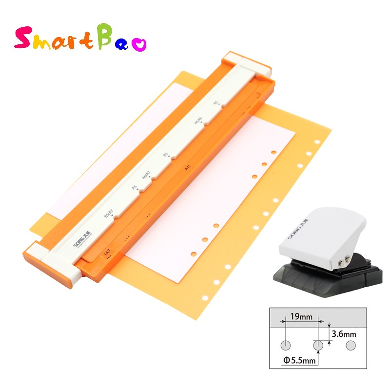9-hole Puncher For B5 Paper; New 6-hole Hole Punch For A5 A6 A7 Loose-leaf Notebook Core Creative Stationery Kit Paper Punchers