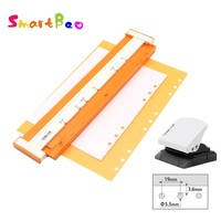 9 hole Puncher for B5 Paper; New 6 hole Hole Punch for A5 A6 A7 Loose leaf Notebook Core Creative Stationery Kit Paper Punchers
