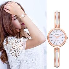 Women Classic Quartz Wrist Watch with Thin Alloy Strap Exqui