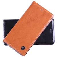 Top Quality Genuine Leather Stand Flip Case For Xiaomi Redmi 4 Pro Magnetic Mobile Phone Cover