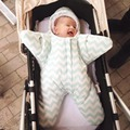 Starfish Shape Newborn Baby Sleeping Bag Winter Cute Warm Outdoors Baby Stroller Windproof Blanket 1 PC