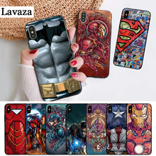 Lavaza Marvel Captain America Iron Man Heroes Silicone Case for iPhone 5 5S 6 6S Plus 7 8 11 Pro X XS Max XR