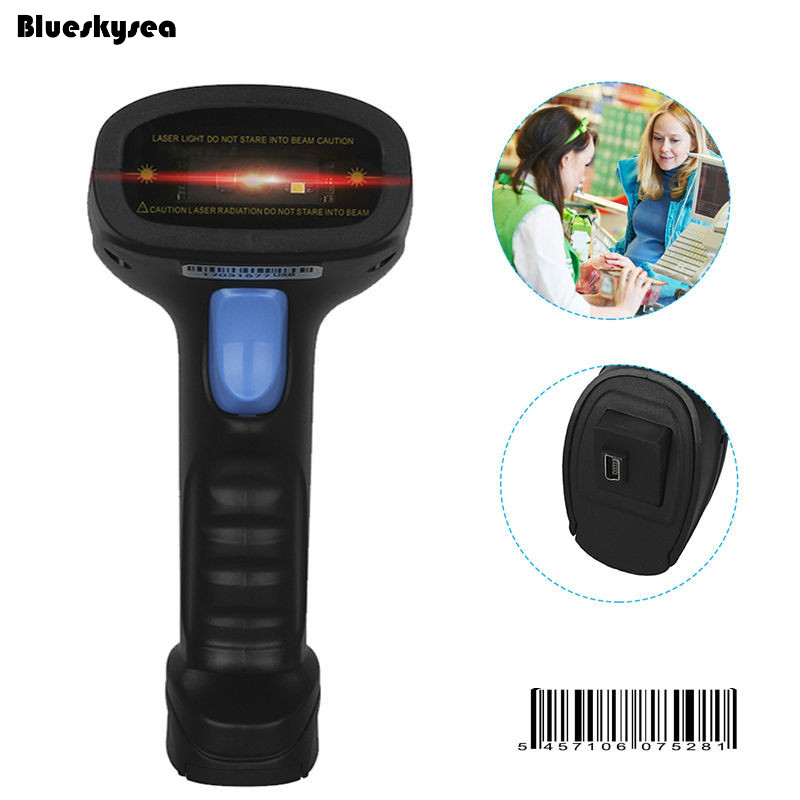 Blueskysea YK-WM3 2.4G 960*640 USB Wireless Handheld Laser Barcode 2D Scan Bar Code Scanner Reader For Windows usb laser barcode scanner automatic bar code scan reader with stand handheld computer office electronics scanners high quality