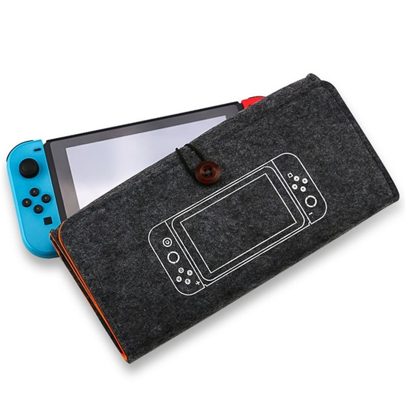 Free Shipping Nintend Switch Durable felt Carrying Pouch Case Ultra Slim Professional Protect Storage Bag for Game Accessories 1