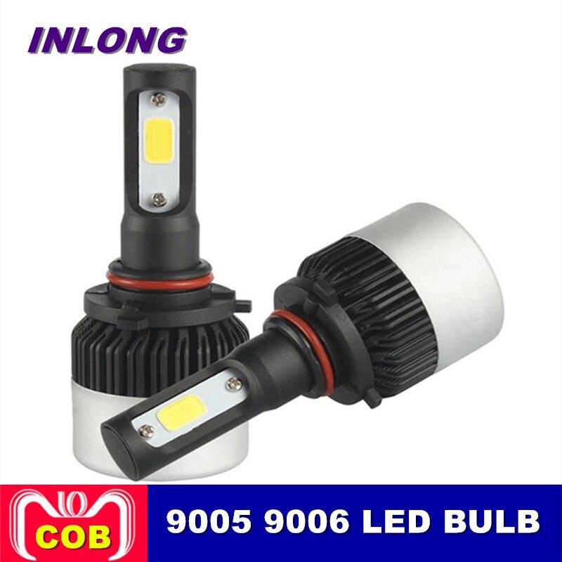 Inlong 2 pcs H7 LED H4 H11 H8 HB4 H1 H3 HB3 9006 Auto Phare De Voiture Ampoules 72 W 12000LM car Styling LED Automobile Brouillard Lumières 6500 K