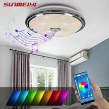 Modern Music LED Ceiling Lights APP control Bluetooth Ceiling Home Light For Living room Kitchen Bedroom Remote lampa do salonu цены
