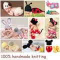 Amzing!2016 Hot Baby Muts Newborn Photography Props 100% Handmade Knitted Baby Beanie Fotografia Newborn Baby Photography Props